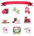 Vector gambling icon set. Part 1 (on white) Stock Photos