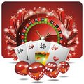Vector gambling illustration with casino elements Royalty Free Stock Image