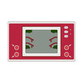Vector game and watch icon illustration. Geek gaming retro gadge Royalty Free Stock Photo