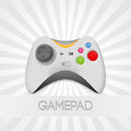 Vector gamepad illustration of game controller illustration Royalty Free Stock Images