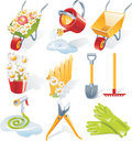Vector gardening icon set Royalty Free Stock Photography