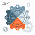 Vector gear circle infographic template for business and industry Royalty Free Stock Photo