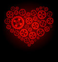 Vector gear heart background Stock Photos