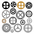 Vector gears cogwheels illustration of the various Stock Image