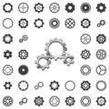 Vector gears icons big set