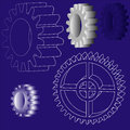 Vector gears illustration of the various Stock Images