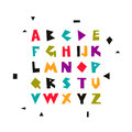 Vector geometric alphabet. Font