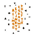 Vector geometric alphabet. Font and lettering.