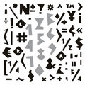 Vector geometric alphabet. Signs and symbols