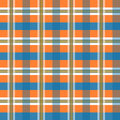 Vector geometric color pattern background illustration of in orange and blue lines and rectangles Royalty Free Stock Photo
