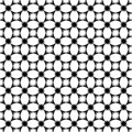Vector geometric floral pattern. Black and white seamless texture Royalty Free Stock Photo