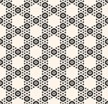 Vector geometric hexagon seamless pattern and white honeycomb texture with small hex shapes