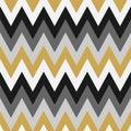 Vector geometric seamless chevron pattern. Retro abstract colorful striped background. Creative repeatable zigzag