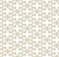 Vector geometric seamless pattern. Elegant gold and white ornament background