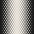 Vector geometric halftone seamless pattern with fading rhombuses. Hipster fashion design.