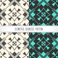 Vector geometric seamless pattern. Modern design for background,