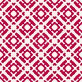 Vector geometric seamless pattern. Red and white Christmas holiday background