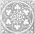 Vector geometric seamless pattern. Repeating abstract dots Royalty Free Stock Photo