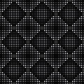 Vector geometric seamless pattern repeating abstract square gradation in black and grey Stock Photography