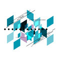 Vector geometric shear template abstract background