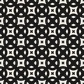 Vector geometric texture, modern minimalist monochrome seamless pattern with rounded shapes, squares, lattice, grid, mesh. Royalty Free Stock Photo