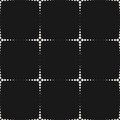 Vector geometric texture with small dots, flash, halftone crosse Royalty Free Stock Photo