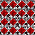 Vector geometric traditional Scandinavian ornament. Simple ornamental seamless pattern. Folk ethnic motif. Abstract
