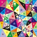 Vector geometry background consist colorful triangles vector illustration Royalty Free Stock Image