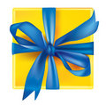 Vector gift with bow Stock Images