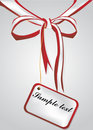 Vector gift bow Royalty Free Stock Photo