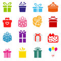 Vector gift box icon illustration Royalty Free Stock Images
