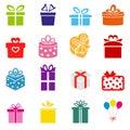Vector Gift box icon Royalty Free Stock Photo