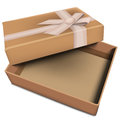 Vector gift box on isolated white backgroud Royalty Free Stock Image