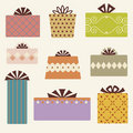 Vector gift box set Stock Images