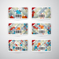 Vector Gift Card Set Stock Images