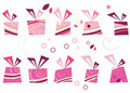 Vector gift set Royalty Free Stock Photos