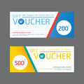 Vector gift voucher coupon template design. paper label frame mo