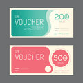 Vector gift voucher coupon template design. paper label frame Royalty Free Stock Photo