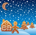 Vector gingerbread cookies Stock Images