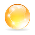 Vector glass orb Royalty Free Stock Photo