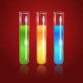 Vector glass test tubes ollustration of Stock Photography