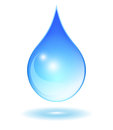 Vector glass water drop illustration Stock Photos