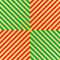 Vector glittering seamless pattern with gold, red and green stripes. Chevron background. Royalty Free Stock Photo