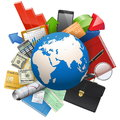 Vector Global Business Concept Royalty Free Stock Photo