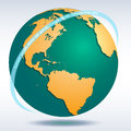 Vector Globe icon Royalty Free Stock Photo