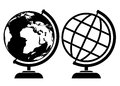 Vector globe icons isolated on white Stock Images
