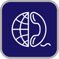 Vector globe and phone icon Royalty Free Stock Photo