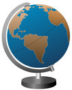 Vector Globe On Stand Royalty Free Stock Photos