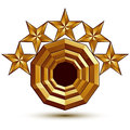 Vector glorious glossy design element d with luxury golden stars conceptual graphic template clear eps Stock Photography