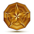 Vector glorious glossy design element luxury d golden star co conceptual graphic template clear eps Stock Photos